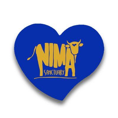 Magnet frigider Nima Sanctuary în formă de inima albastru