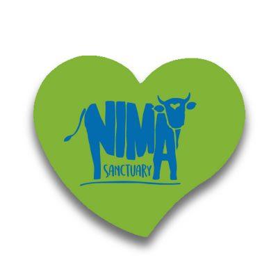 Magnet frigider Nima Sanctuary în formă de inima verde pal