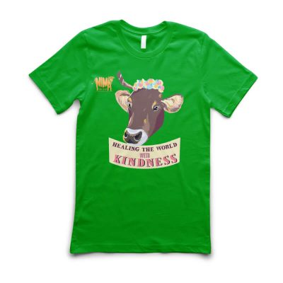 Tricou unisex Healing the world with kindness Indra verde