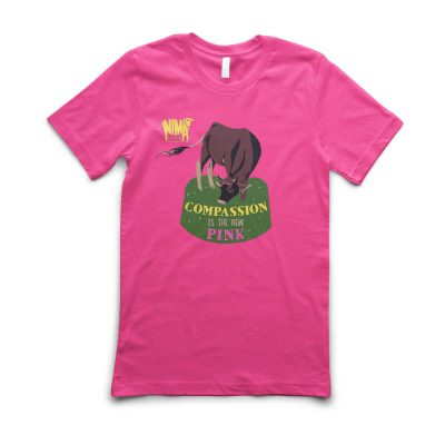 Tricou unisex Compassion is the new pink with Fetița roz