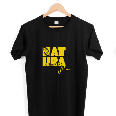 Tricou unisex Natura Umană negru